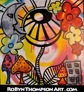 painting-moon-shrooms-eye-flower-robyn-thompson